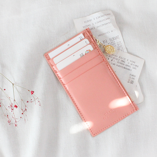D.LAB Gato zipper wallet - Pink - 디랩 D.LAB