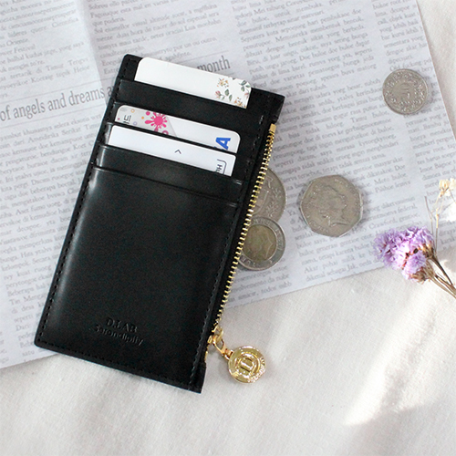 D.LAB Gato zipper wallet - Black - 디랩 D.LAB