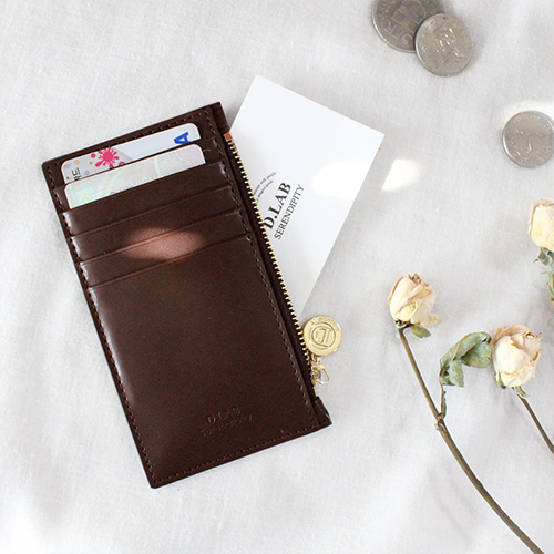 D.LAB Gato zipper wallet - Brown - 디랩 D.LAB