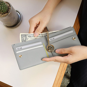 D.LAB Coin Half wallet  - Gray - 디랩 D.LAB