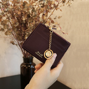 D.LAB Coin name card wallet  - Burgundy - 디랩 D.LAB