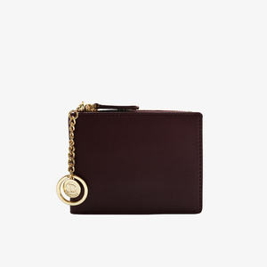 D.LAB Coin Half wallet  - Burgundy - 디랩 D.LAB