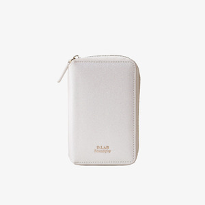 D.LAB Twinkle Zipper Wallet - White - 디랩 D.LAB